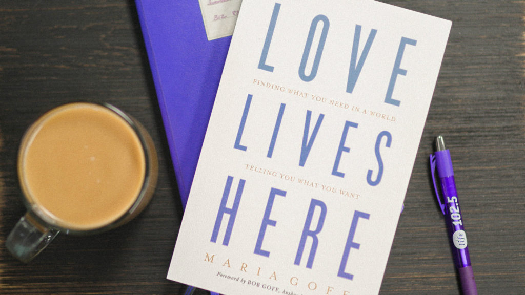 Love lives Here Book on table